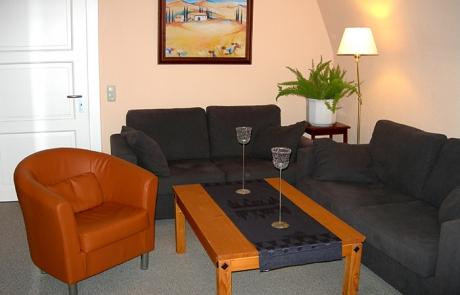 Ferienwohnung Villa Rosenhof - Wohnzimmer